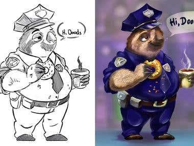 Sloth-Cop