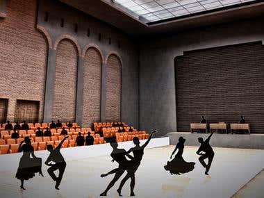 Reconversion historic building into theatre