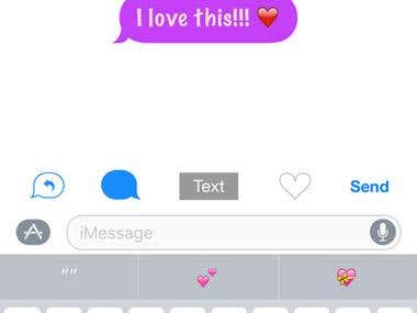 Color Text Bubbles for iMessage