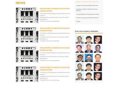 Singapore chinese physicians association page redesign