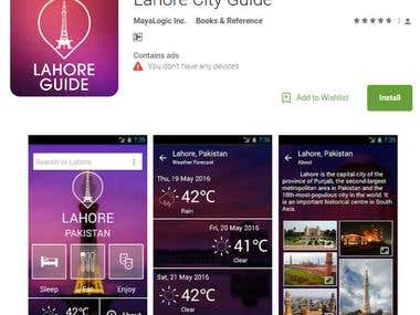 Lahore City Guide Application