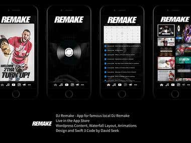 DJ Remake - App for famous local DJ Remake