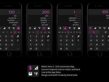 Metric Hero 2 - Unit conversation App
