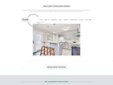 Red Barn Homes Real Estate - Wordpress Project
