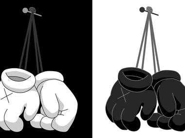 Hanging gloves (2017)