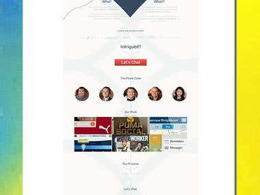 Single page scrolling web page using twitter bootstrap