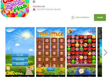 Candy Match Plus Android Game