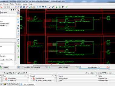 XGA (Extended Graphics Array) interface with Spartan 6
