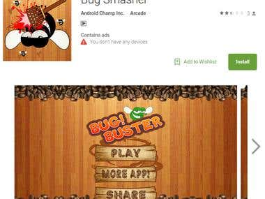 Bug Smasher Android Game