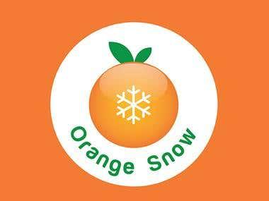 Logo and Brochures (Orange snow ice-cream)