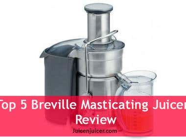 Article for Top 5 Breville Masticating Juicers Reviews