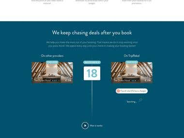 Hotel Booking Web UI concept Design