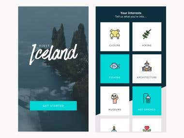 Iconic mobile application UI designing
