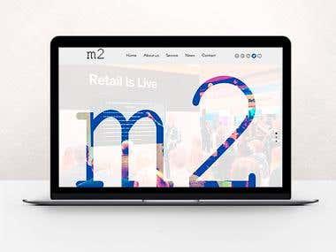 WEBSITE MOCKUP – M2 COLLABORATIVE