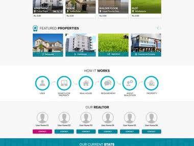 Real Estate Website PSD Design
