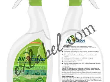 Car and home window cleaner packaging