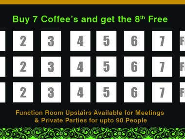 Coffee Loyalty Card with Flyer