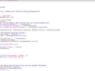 Document uploading sample code