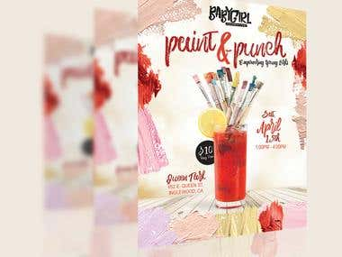 Paint & Slip Flier Design