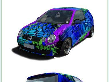 VW Polo 9N Wrap design