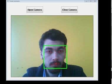 Facial Landmarks, Dlib, OpenCV, C++, Qt, GUI