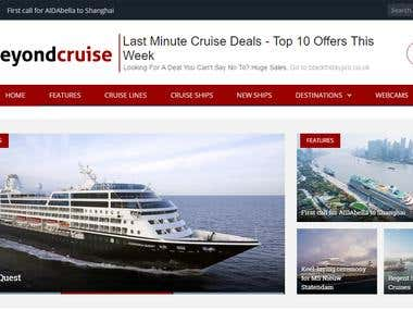 Cruise website - hosting/design/management