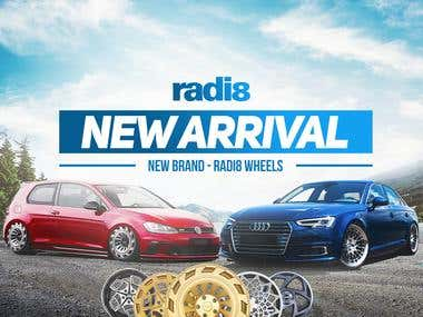 Radi8 wheels social media ads