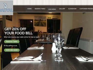 Dadyals Restaurant Website development and Hosting