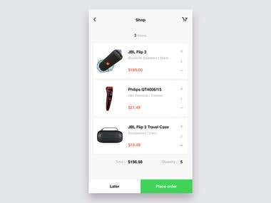 E Commerce Cart page concept UI for mobile