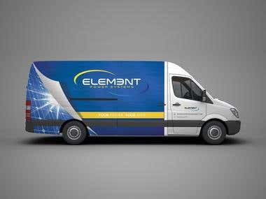 Element Power Van Wrap Design