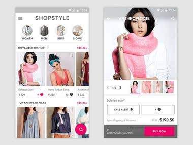 Fashion Shopping Android UI