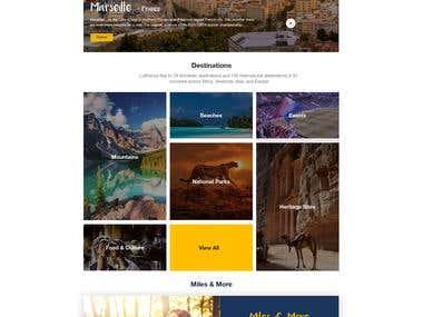 Lufthansa travel booking Web UI concept design