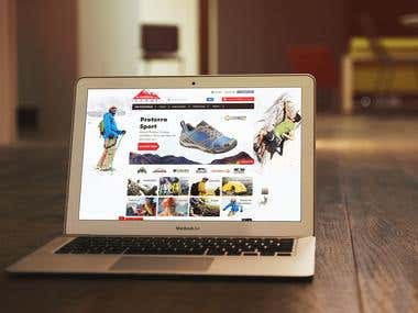 Outdoor e-commerce website