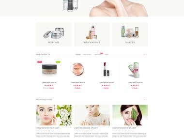 Cosmetics Store - build a commercial Prestashop template