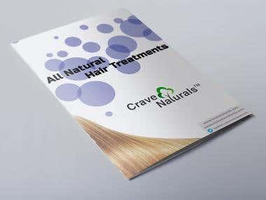 Crave Naturals - brochure/logo design