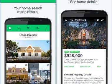 Real estate APP Android and ios