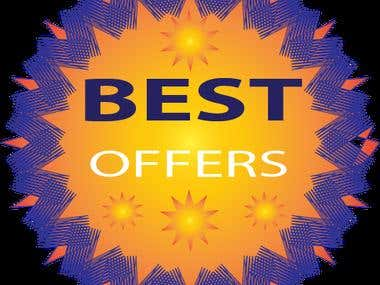 BEST OFFERS BADGE LOGO