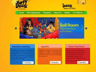 Website Development Of www.happybees.in