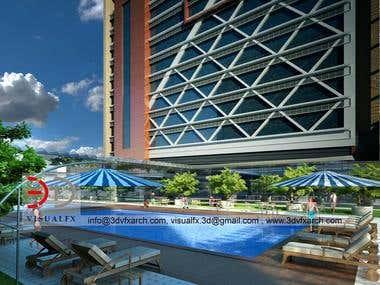 Prism Hotel 3D Architectural Visualization
