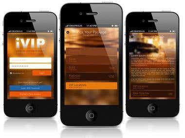 iVIP iPhone App Design