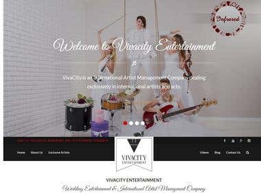 Website for Vivacity India