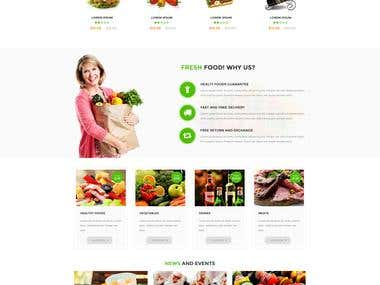 Fresh Food - build a commercial Prestashop template