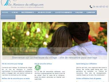 Website management for Lamarieuseduvillage