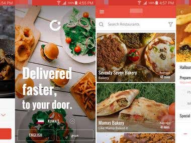 Food Ordering/Delivery App