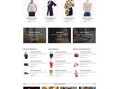 Ebusiness - build a commercial Prestashop template