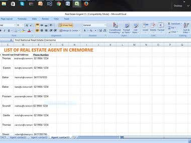 Scraping real estate agent email addresses Australia