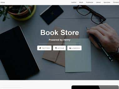 Build a simple Website to manipulate a small Book database