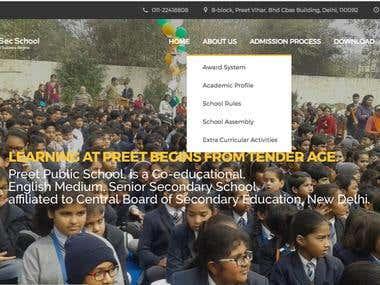 Website for school business