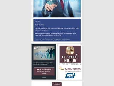 Email Newsletter Template for a Law Firm