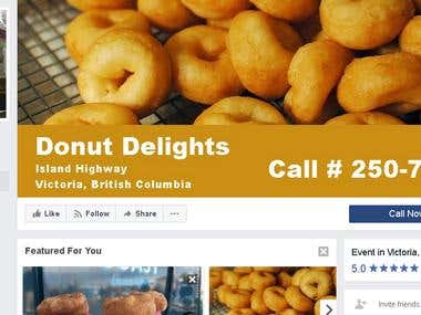 SMM for Donut Delight, British Columbia, Canada
